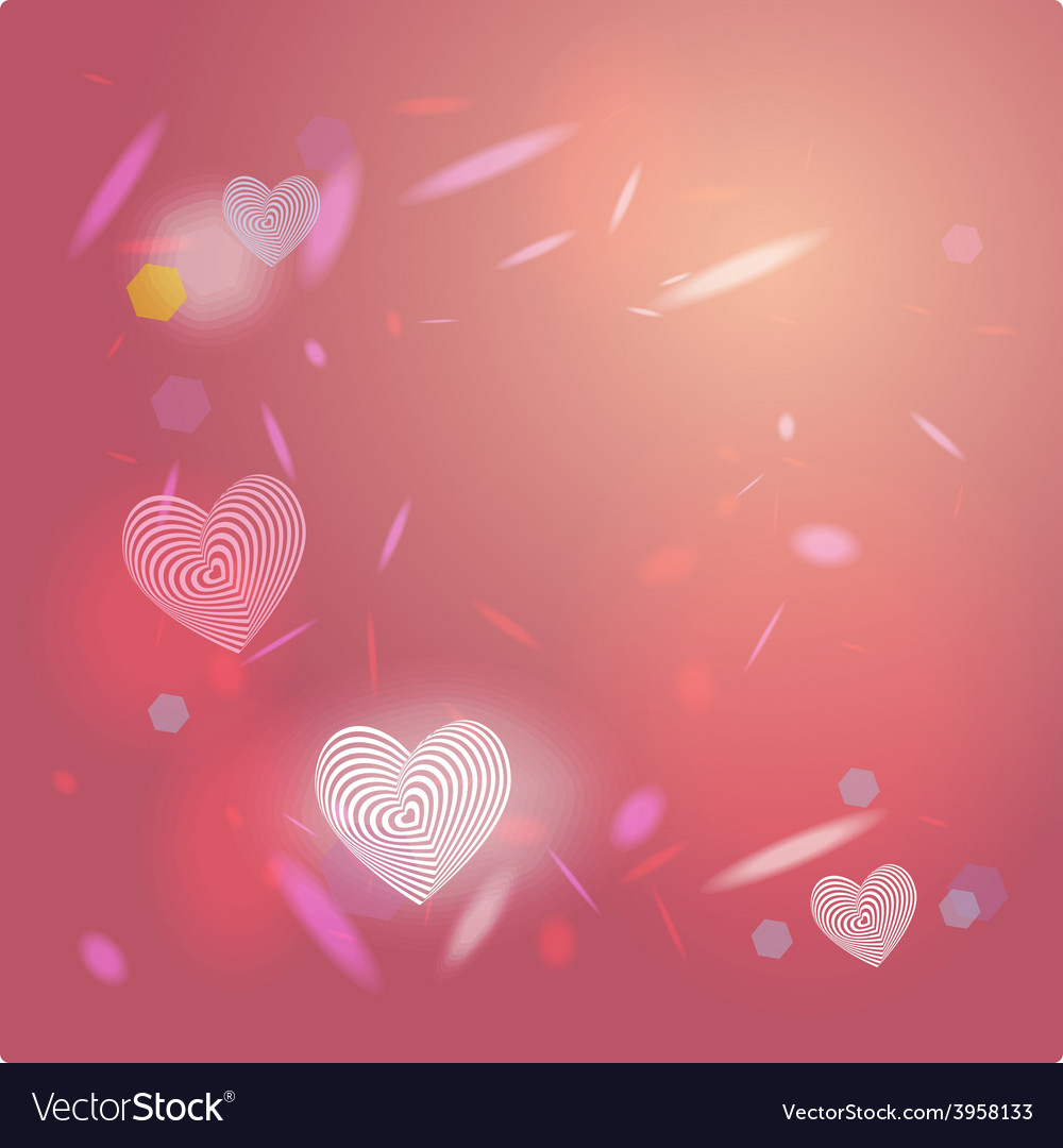 Abstract pink background light glare heart vector | Price: 1 Credit (USD $1)