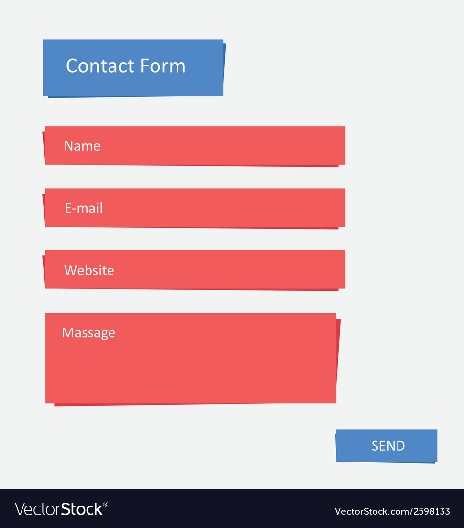 Contact form 2 vector | Price: 1 Credit (USD $1)