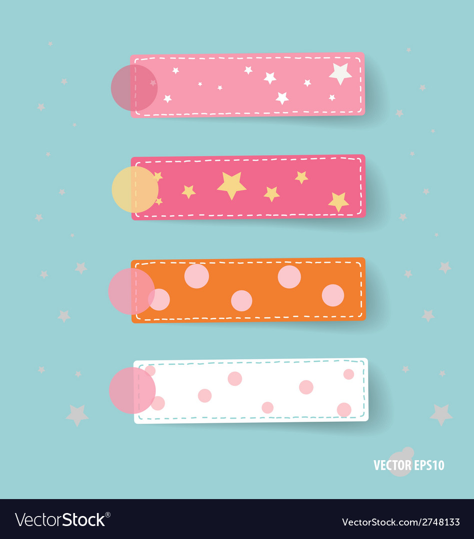 Cute note papers vector | Price: 1 Credit (USD $1)