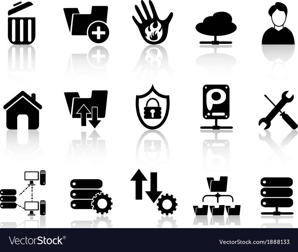 Ftp host icons vector | Price: 1 Credit (USD $1)