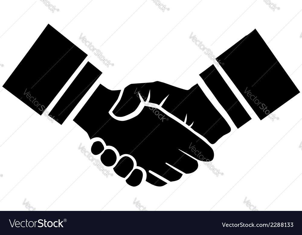 Handshake vector | Price: 1 Credit (USD $1)