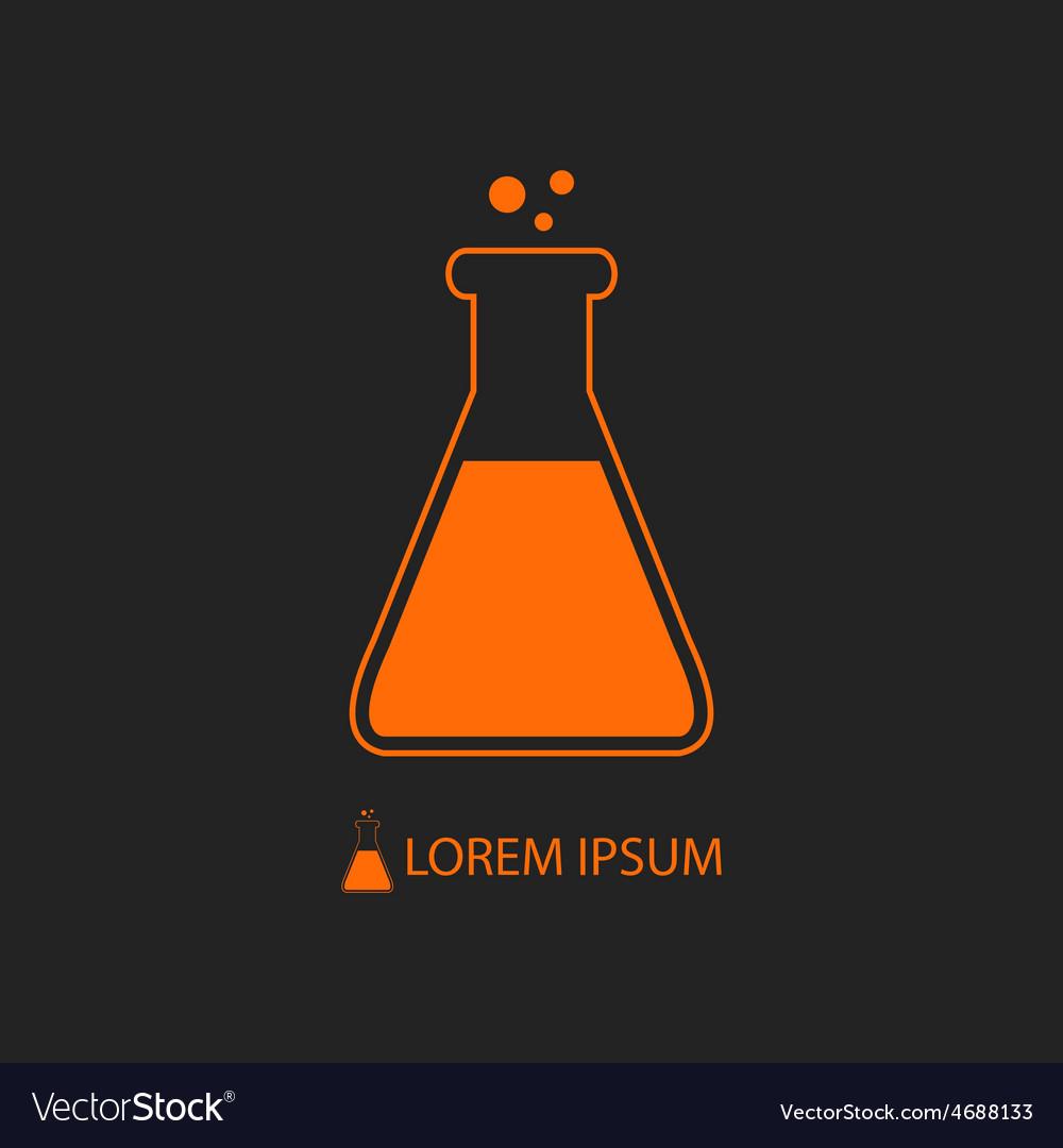 Orange flask as chemistry logo vector | Price: 1 Credit (USD $1)