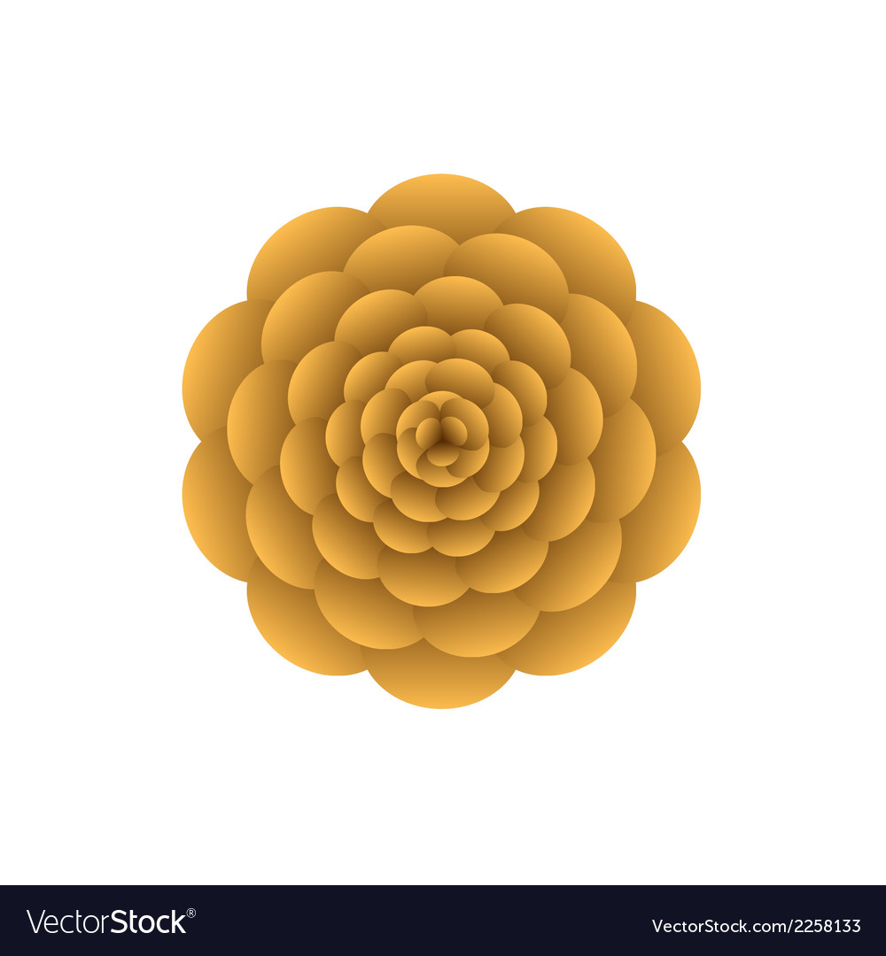 Orange flower vector | Price: 1 Credit (USD $1)