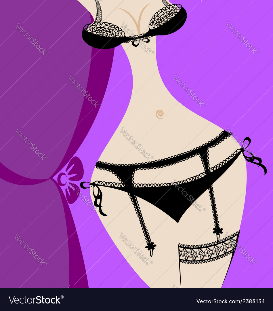 Abstract black lingerie vector | Price: 1 Credit (USD $1)