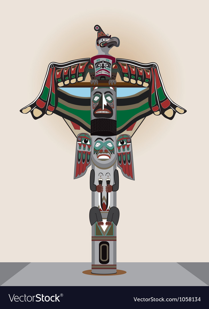 American indian column vector | Price: 1 Credit (USD $1)