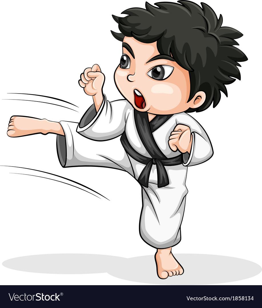 An asian taekwondo player vector | Price: 1 Credit (USD $1)