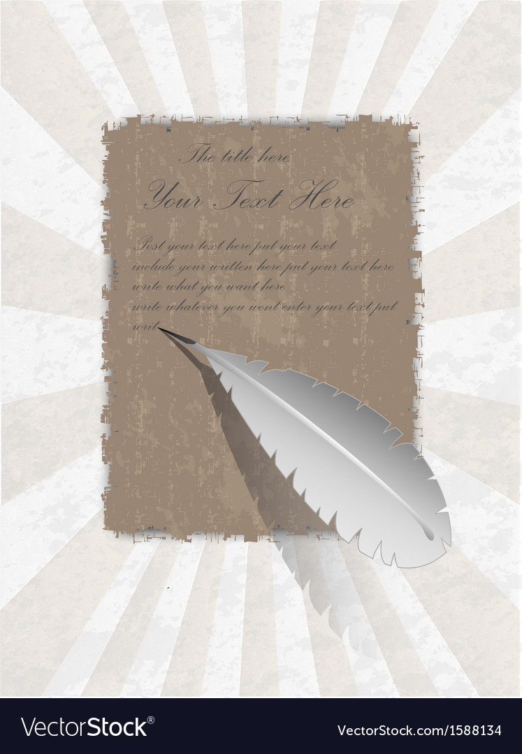 Ancient egyptian parchment with pen vector | Price: 1 Credit (USD $1)
