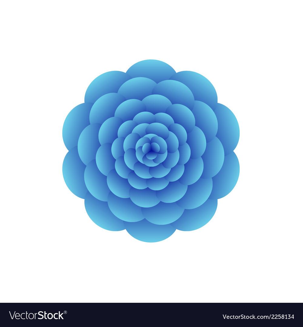 Blue flower vector | Price: 1 Credit (USD $1)