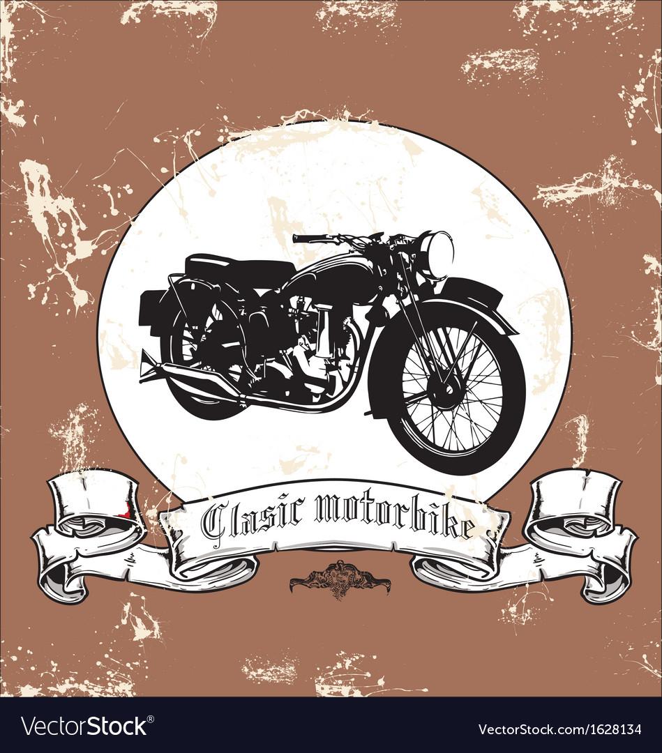 Clasic motorbike vector | Price: 1 Credit (USD $1)