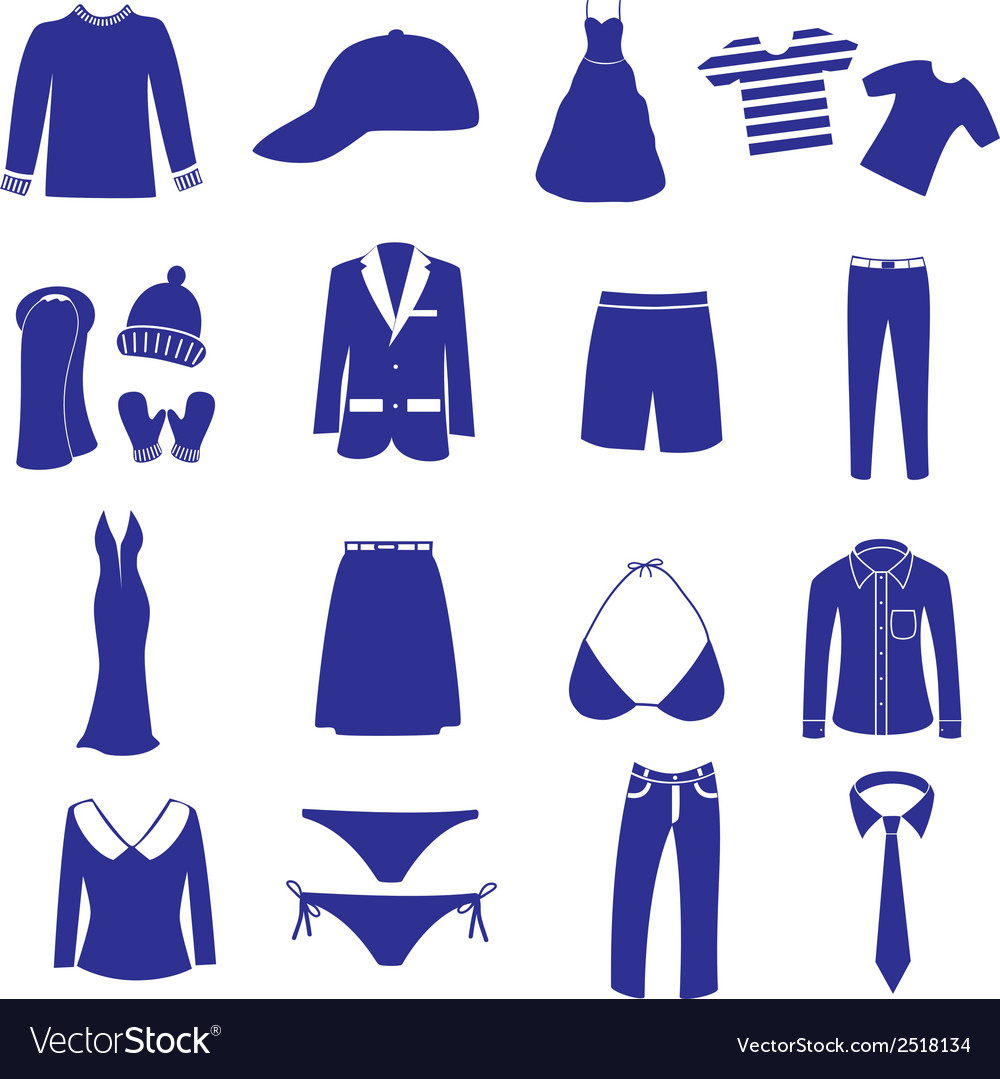 Clothing icon set eps10 vector | Price: 1 Credit (USD $1)