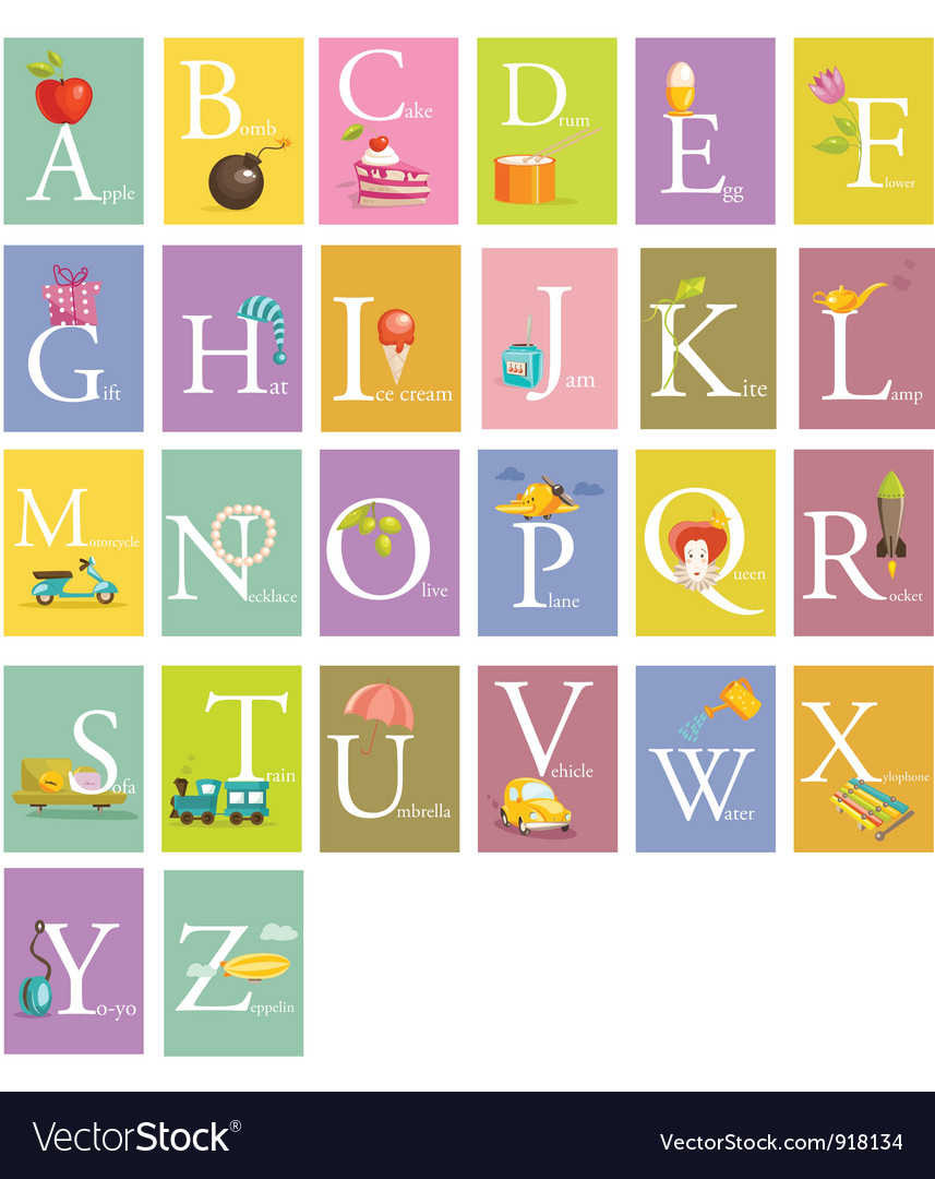 Colorful abc letters vector | Price: 3 Credit (USD $3)