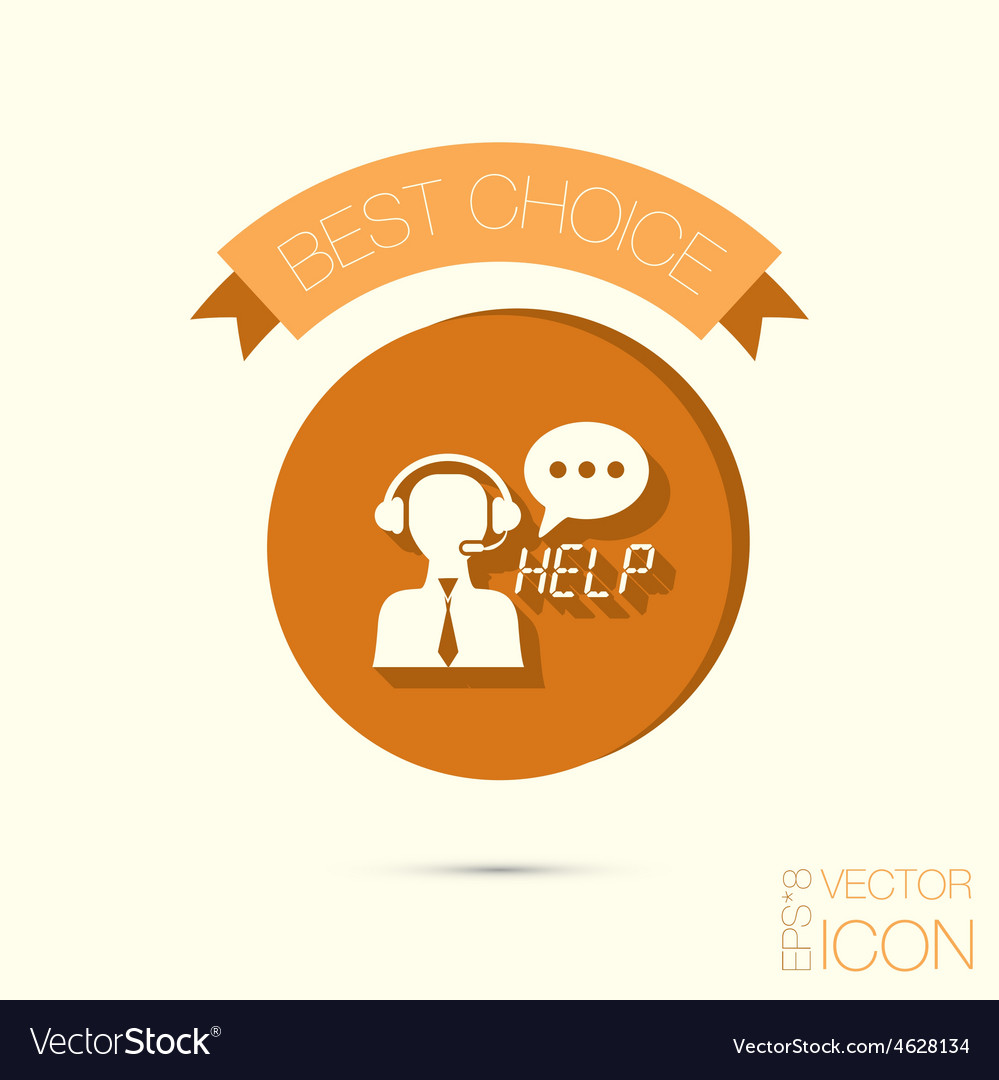 Customer support vector | Price: 1 Credit (USD $1)