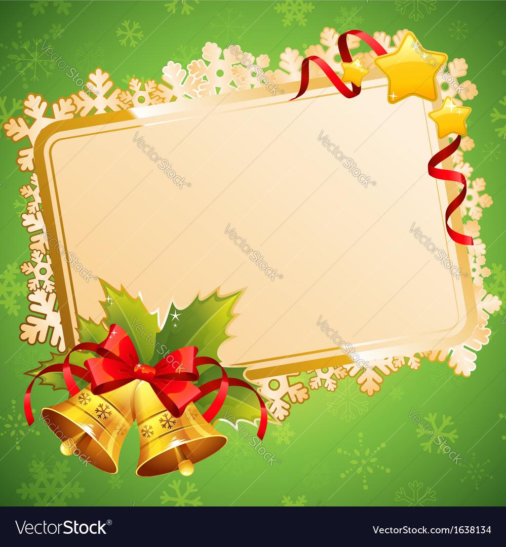Decorative christmas invitation postcard vector | Price: 1 Credit (USD $1)