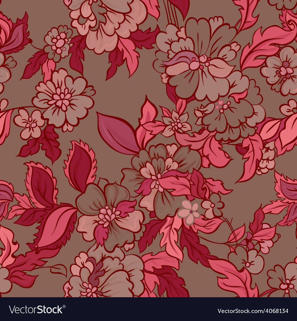 Decorative floral boho seamless pattern vector | Price: 1 Credit (USD $1)