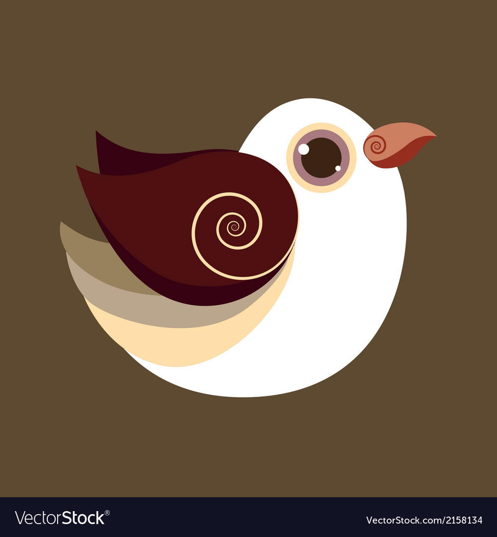 Dove bird cute abstract prehistoric color vector | Price: 1 Credit (USD $1)