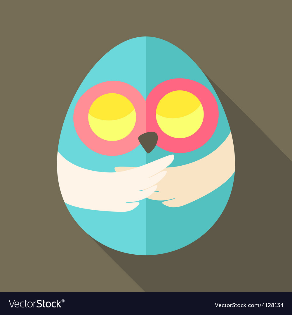 Easter owl egg shaped vector | Price: 1 Credit (USD $1)