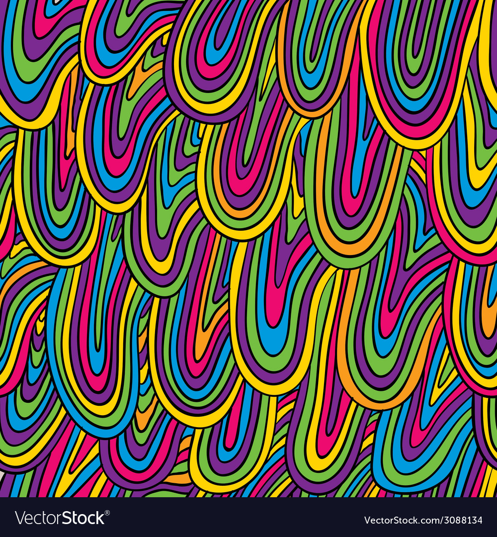Funky style colorful seamless pattern vector | Price: 1 Credit (USD $1)