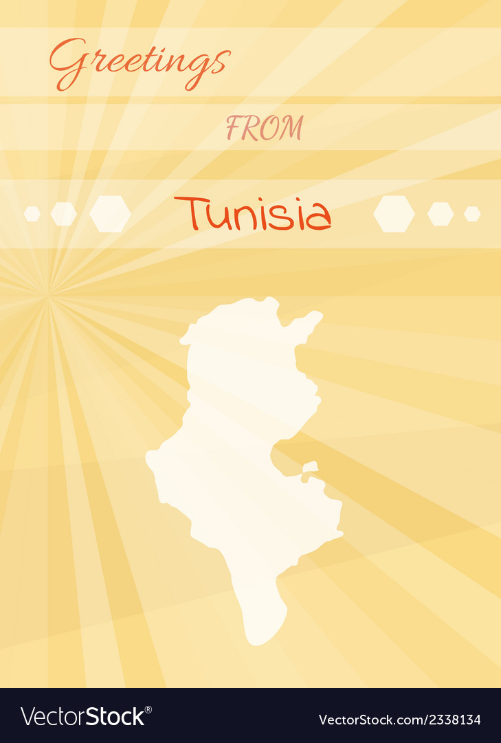 Greetings from tunisia vector | Price: 1 Credit (USD $1)