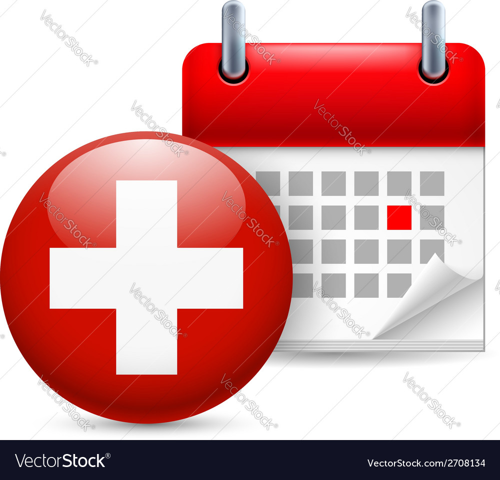 Icon of national day in switzerland vector | Price: 1 Credit (USD $1)