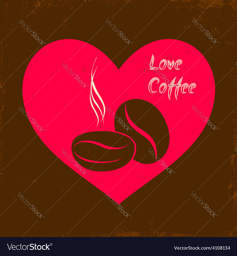 Love coffee vector | Price: 1 Credit (USD $1)