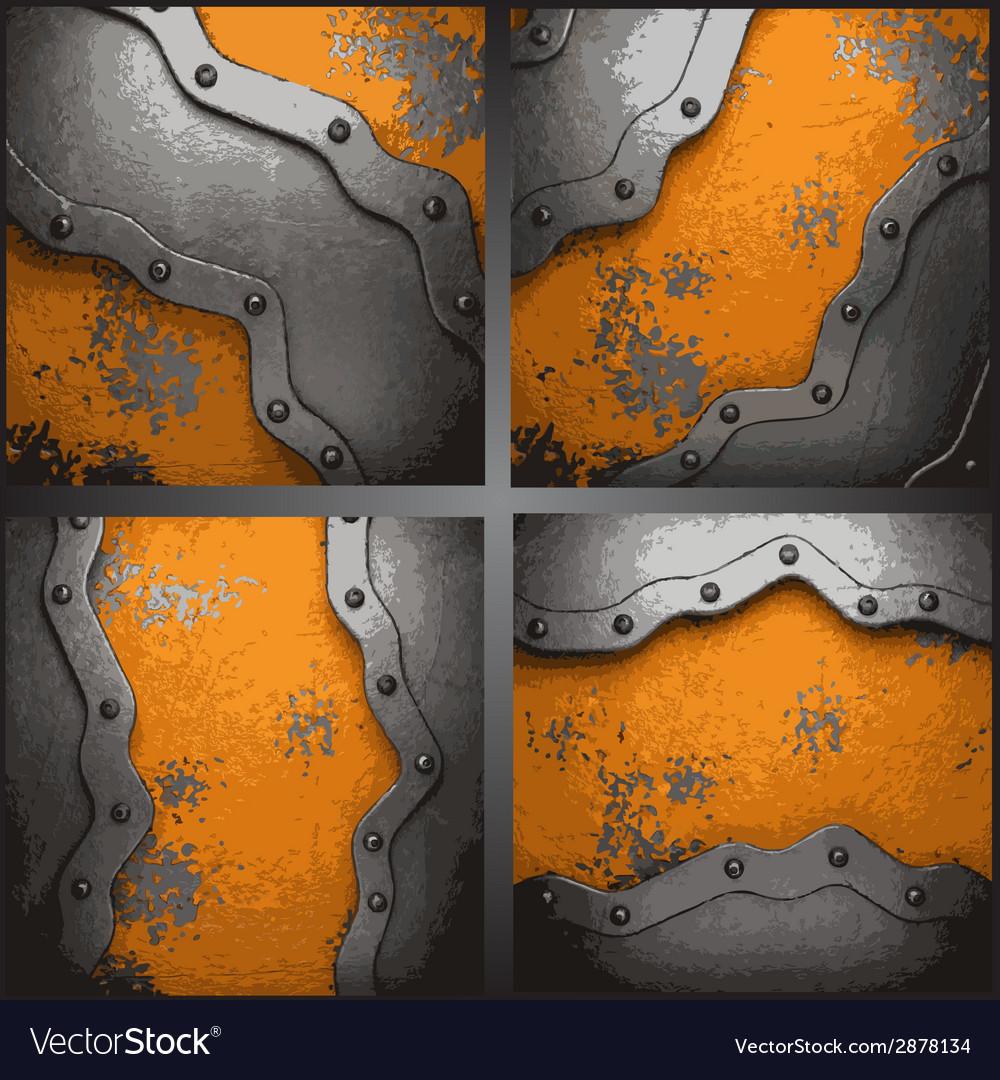 Metal background set vector | Price: 1 Credit (USD $1)