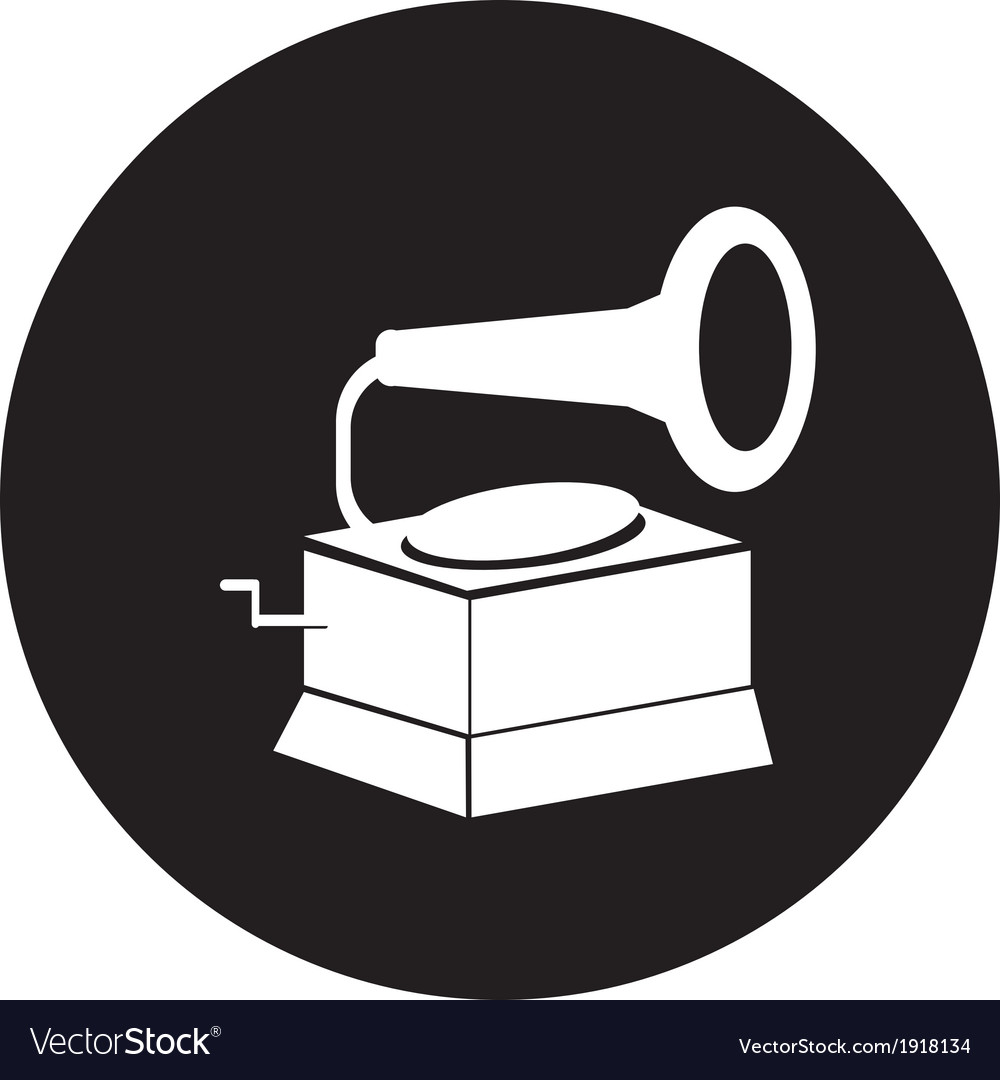 Old gramophone vector | Price: 1 Credit (USD $1)