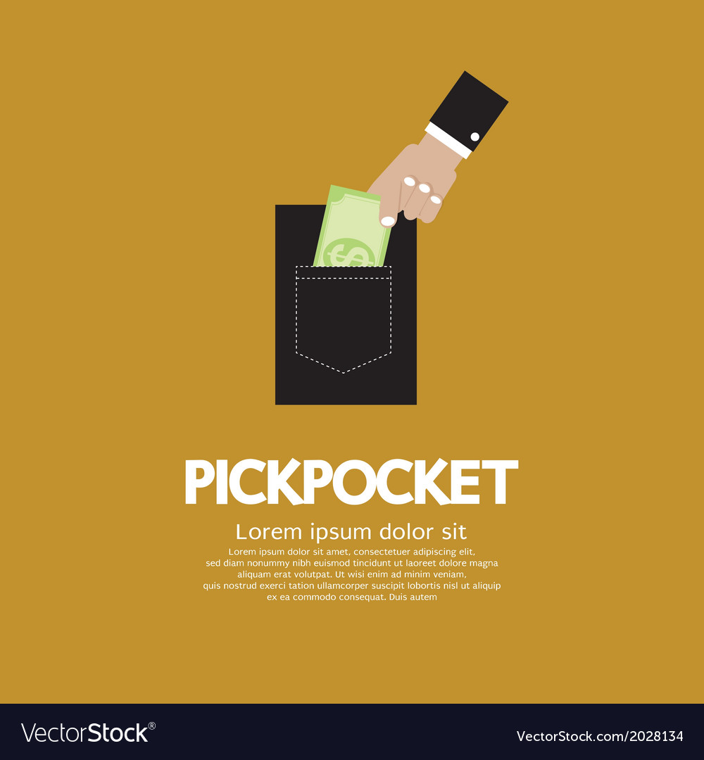 Pickpocket vector | Price: 1 Credit (USD $1)