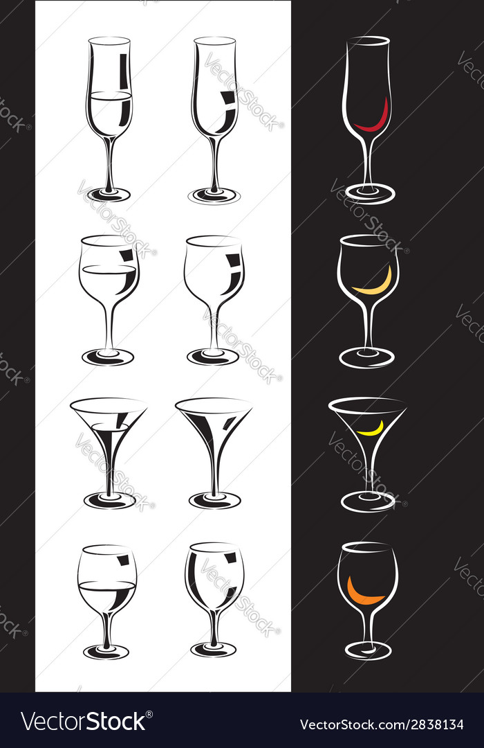 Stylized glasses vector | Price: 1 Credit (USD $1)