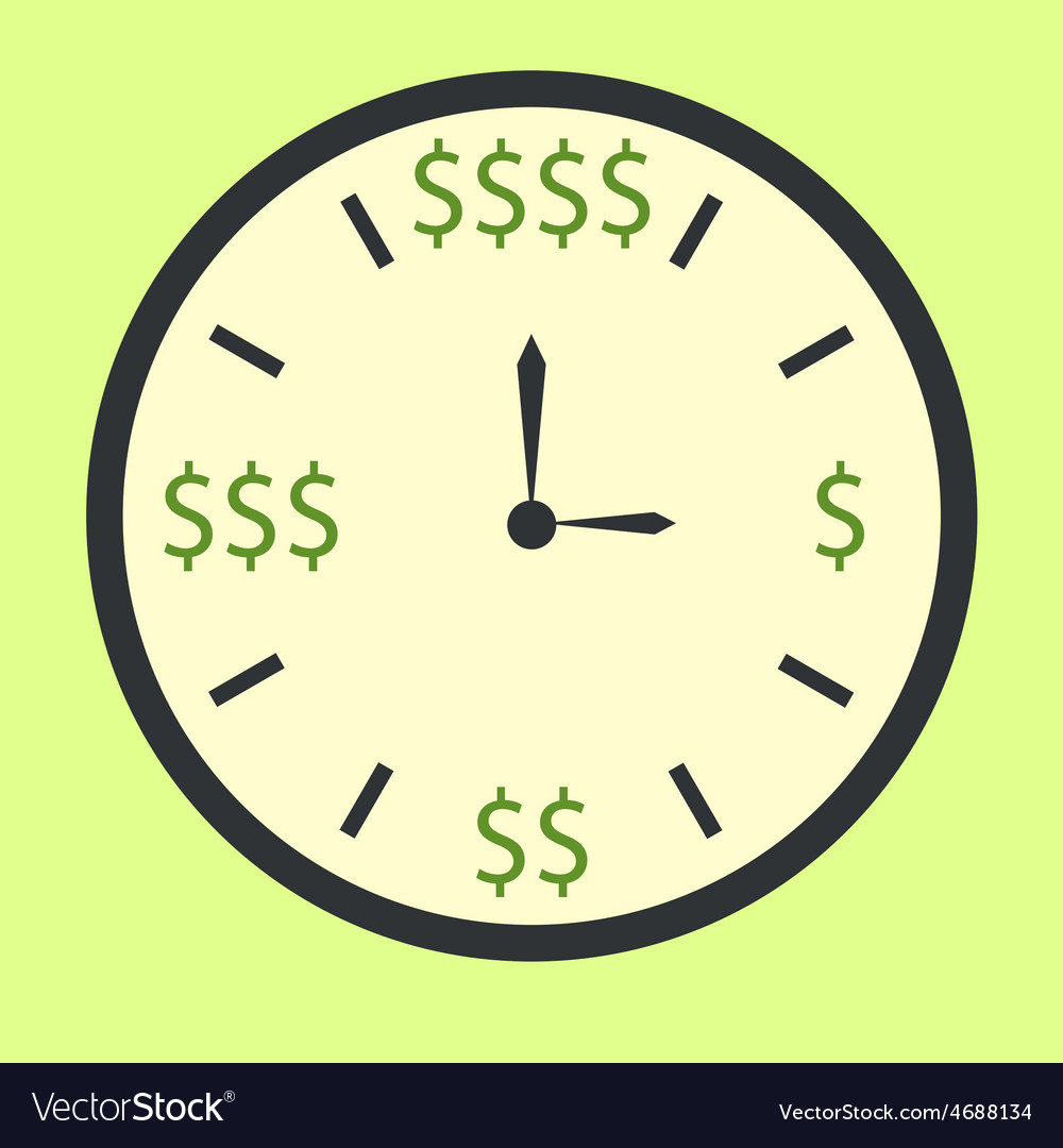 Time is money concept vector | Price: 1 Credit (USD $1)