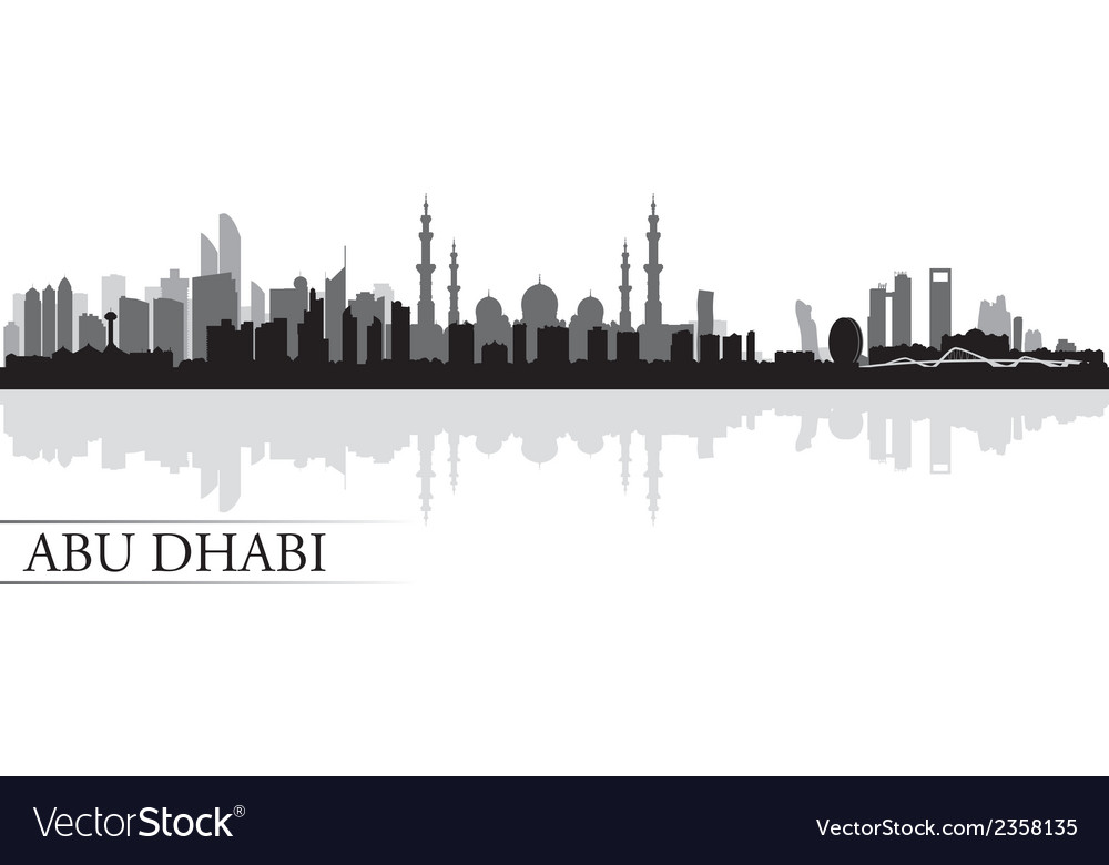 Abu dhabi city skyline silhouette background vector | Price: 1 Credit (USD $1)