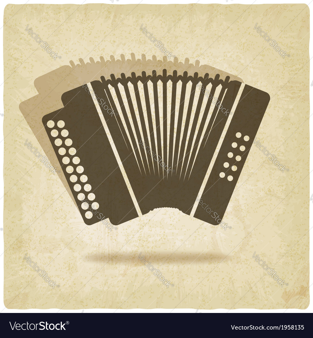 Accordion old background vector | Price: 1 Credit (USD $1)