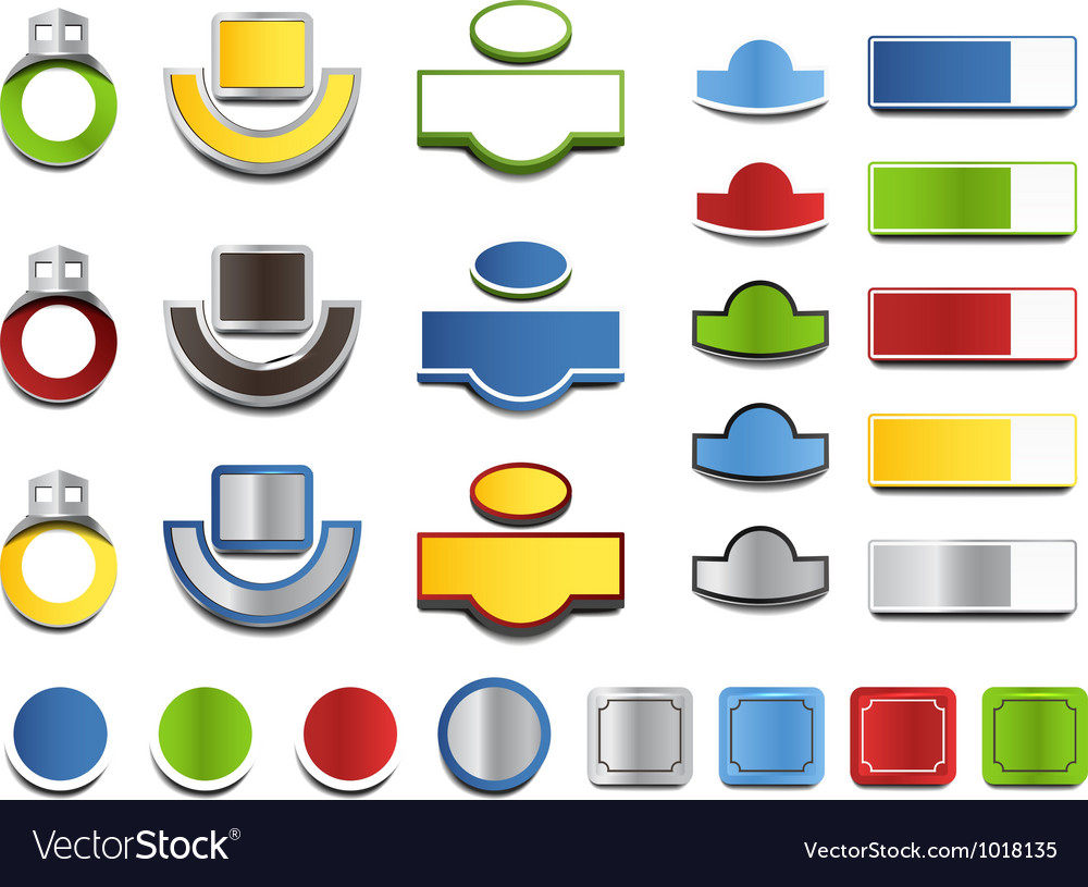 Color house address boards collection vector | Price: 1 Credit (USD $1)