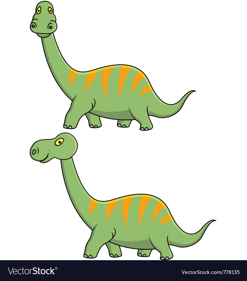 Green dinosaur cartoon vector | Price: 1 Credit (USD $1)