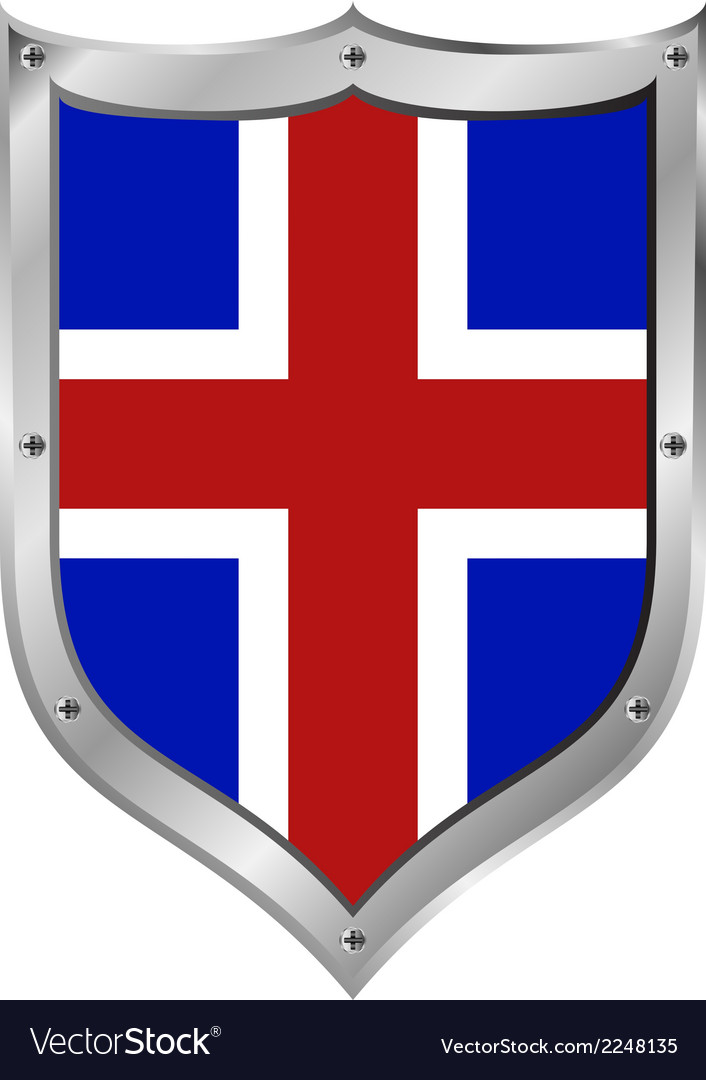 Iceland flag button vector | Price: 1 Credit (USD $1)