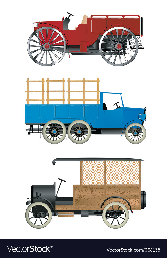Old trucks vector | Price: 3 Credit (USD $3)