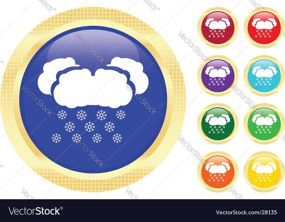 Snow icons vector | Price: 1 Credit (USD $1)