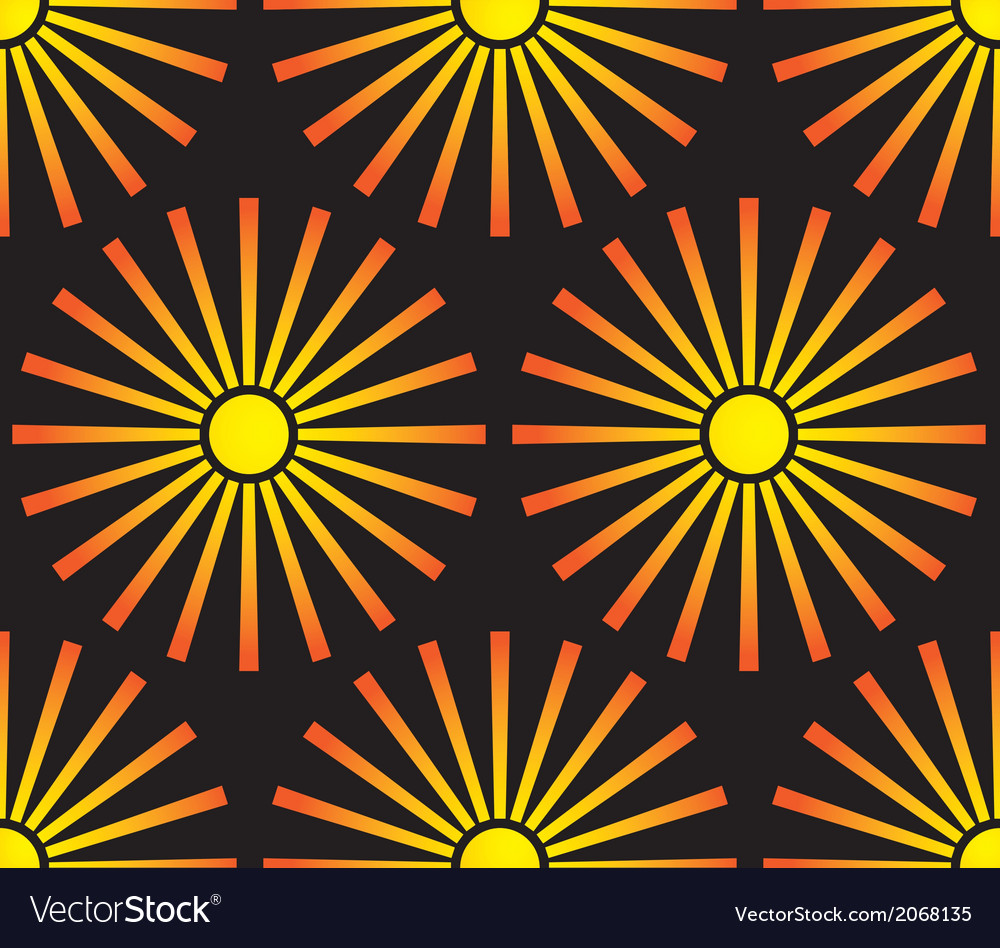 Sun seamless pattern vector | Price: 1 Credit (USD $1)