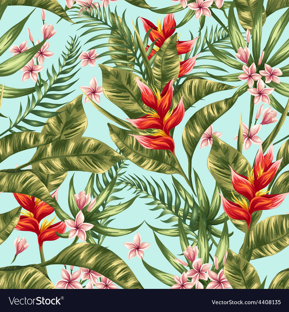 Tropical pattern vector | Price: 1 Credit (USD $1)