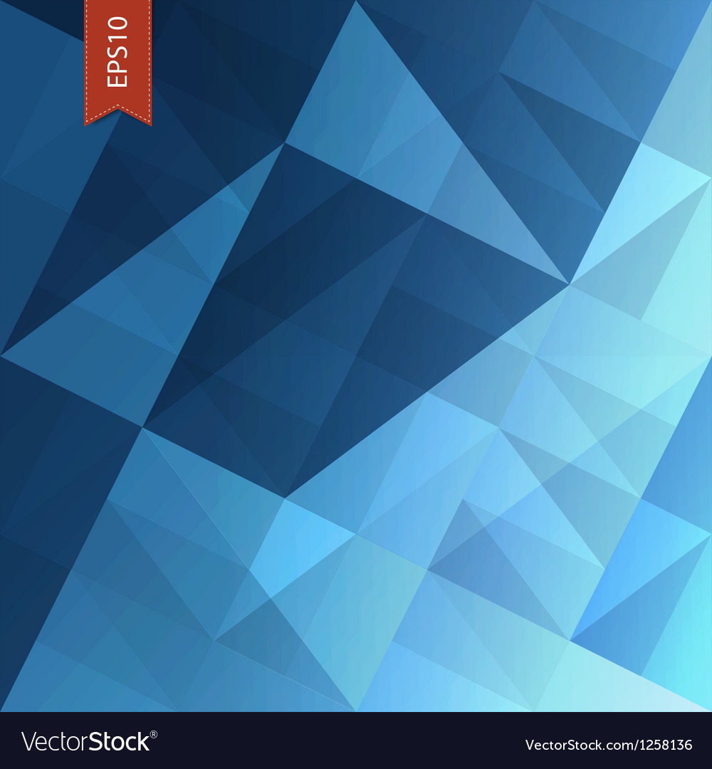 Abstract triangles background blue vector | Price: 1 Credit (USD $1)