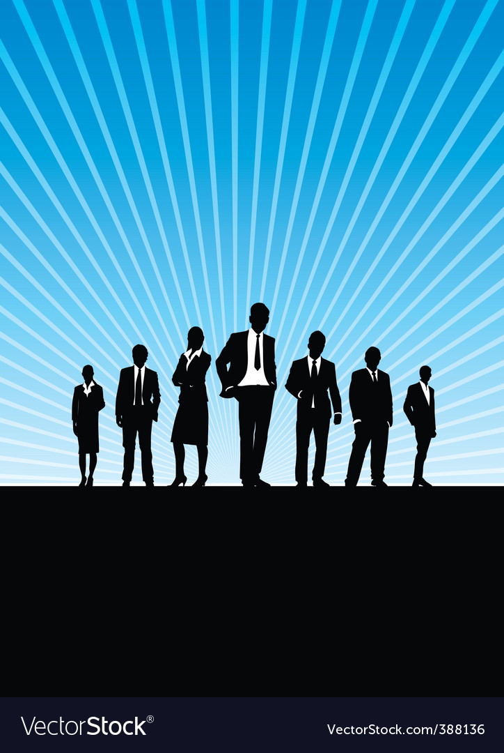 Business people silhouette vector | Price: 1 Credit (USD $1)