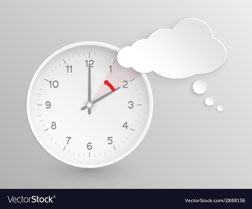 Clock do not forget to fall back vector | Price: 1 Credit (USD $1)