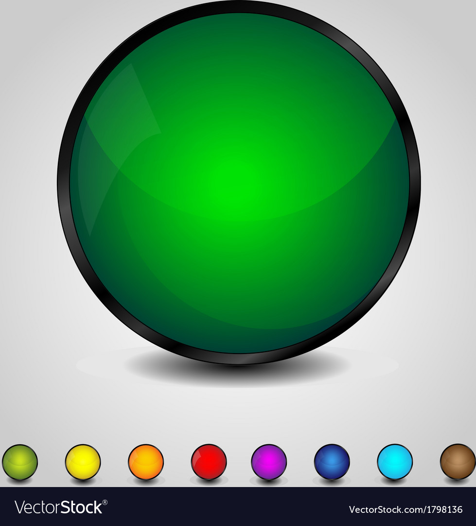Colorful glossy round buttons vector | Price: 1 Credit (USD $1)