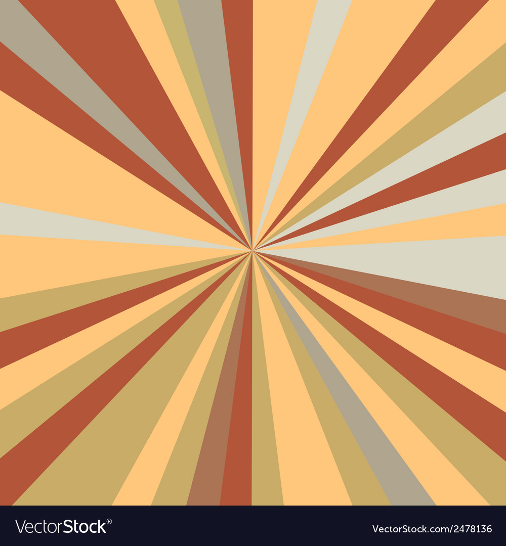Retro rays background vector | Price: 1 Credit (USD $1)