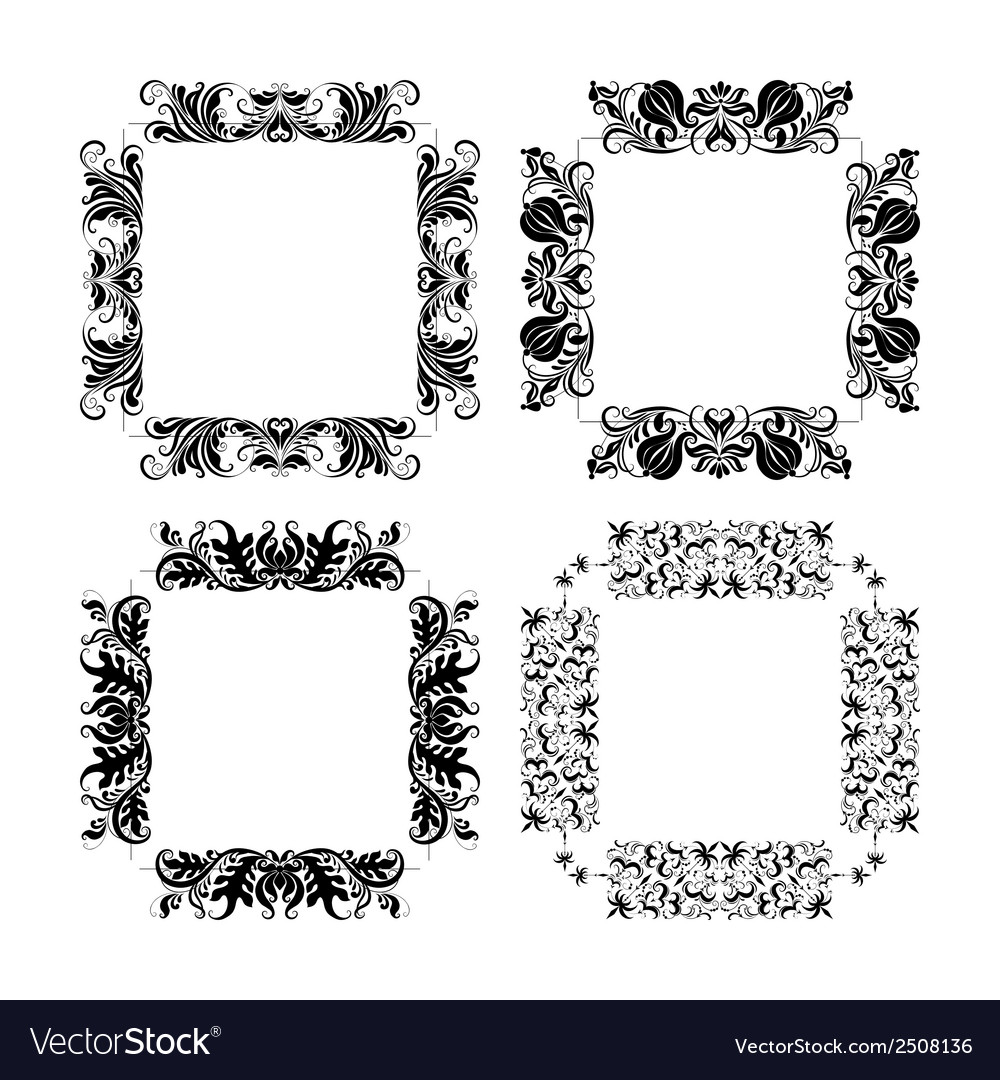Set of frames for design vector | Price: 1 Credit (USD $1)