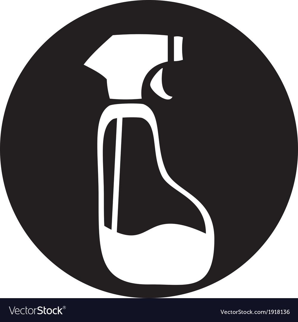 Spray pistol cleaner plastic bottle vector | Price: 1 Credit (USD $1)