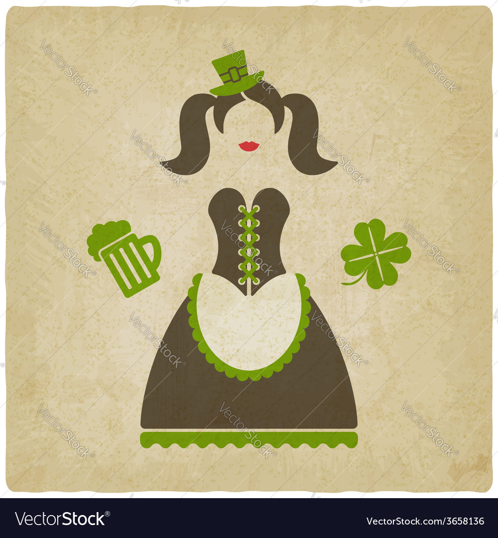 St patricks day girl vector | Price: 1 Credit (USD $1)