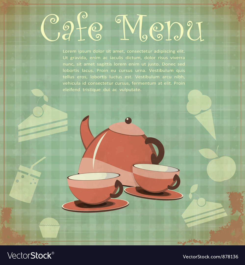 Vintage cover cafe menu vector | Price: 1 Credit (USD $1)