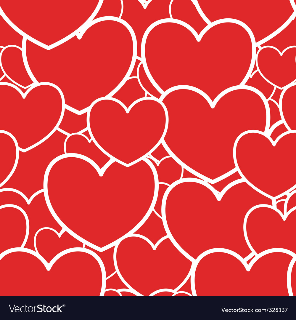 Abstract red background with hearts vector | Price: 1 Credit (USD $1)