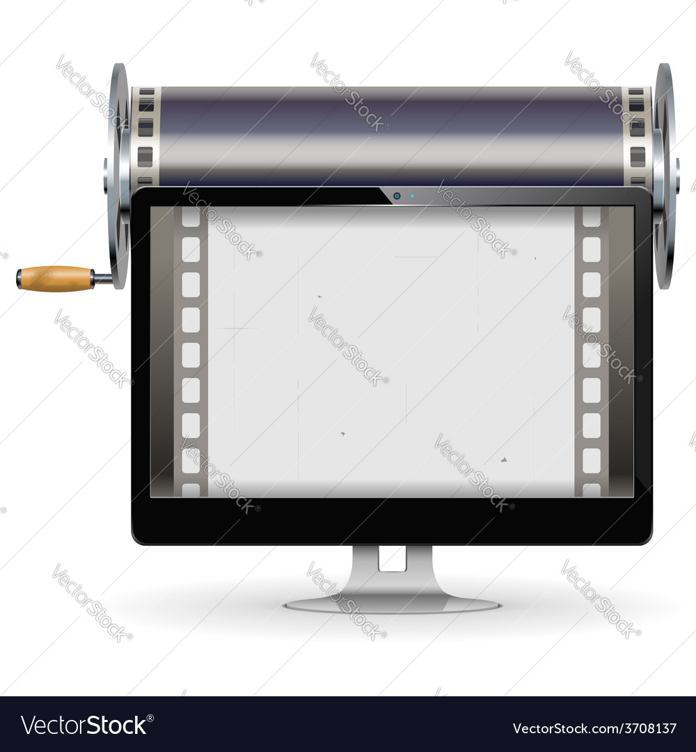 Computer cinema concept vector | Price: 1 Credit (USD $1)