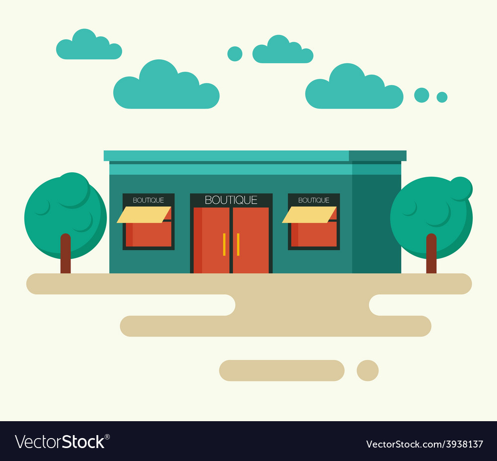 Concept of boutique in trendy vector | Price: 1 Credit (USD $1)